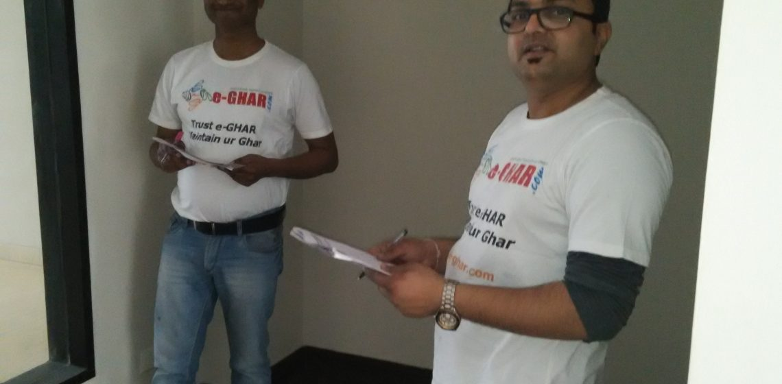 Pre Possession Inspection by Team e-Ghar